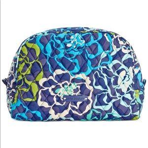 Vera Bradley Katalina Blues LGE Zip Cosmetic Bag
